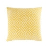 Yellow Cushion with White Graphic Motifs 45x45