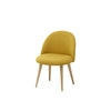 Yellow Vintage Children's Chair with Solid Birch - Mauricette